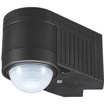 Zinc ALIA Indoor & Outdoor Black PIR Corner Sensor 360� (8104K)