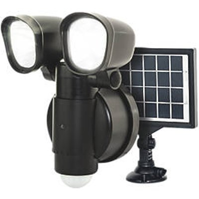 Luceco  Outdoor LED Solar Wall Light With PIR Sensor Black 400lm (816GY)