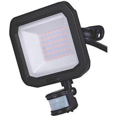 Luceco Guardian Outdoor LED Floodlight With PIR Sensor Black 30W 3150lm (826KJ)