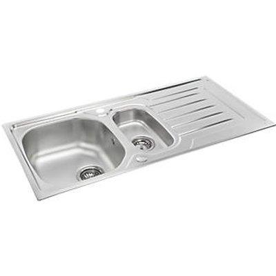 Carron Phoenix Onda Reversible Sink & Drainer Stainless Steel 1.5 Bowl 1000 x 500mm (8277V)