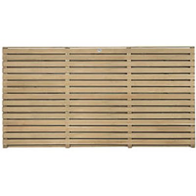 Forest Double-Slatted Fence Panel 6 x 3