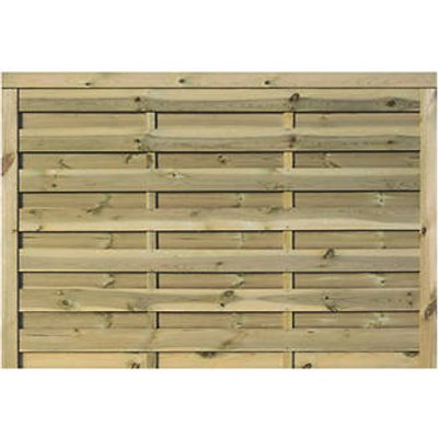 Rowlinson Gresty Double-Slatted Fence Panel 6 x 4