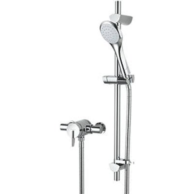 Bristan Sonique Rear-Fed Exposed Chrome Thermostatic Mixer Shower (8351G)