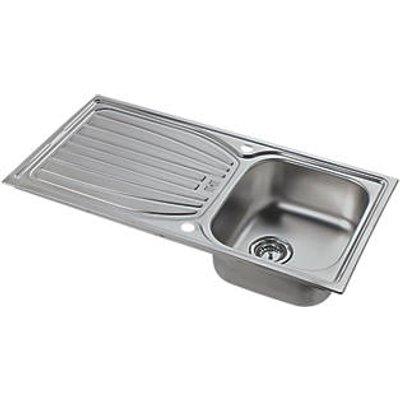Astracast Alto Kitchen Sink Stainless Steel 1 Bowl 980 x 510mm (837HX)