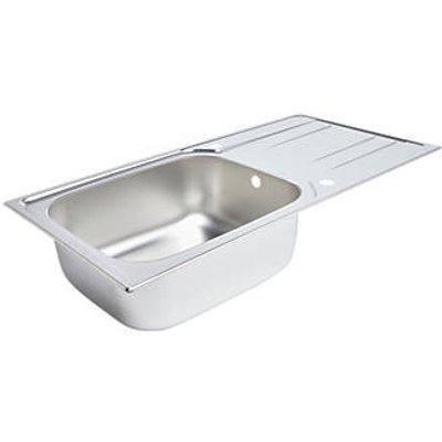 Kitchen Sink & Drainer Stainless Steel 1 Bowl 1000 x 500mm (8504K)
