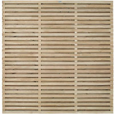 Forest VENHHM6PK4HD Double-Slatted Fence Panel 6 x 6
