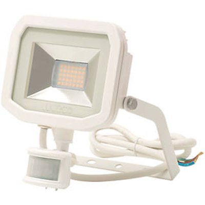 Luceco Guardian Indoor & Outdoor LED Floodlight With PIR Sensor White 15W 1200lm (8696V)