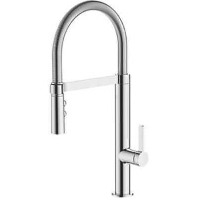 Watersmith Heritage Turin Pull-Out Spray Mono Mixer Kitchen Tap Chrome (8745P)