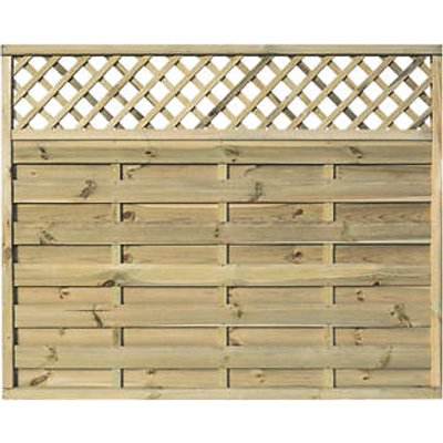 Rowlinson Halkin Double-Slatted Lattice Top Fence Panel 6 x 5