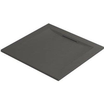 Mira Flight Level Square Shower Tray Slate Grey 900 x 900 x 25mm (885HR)