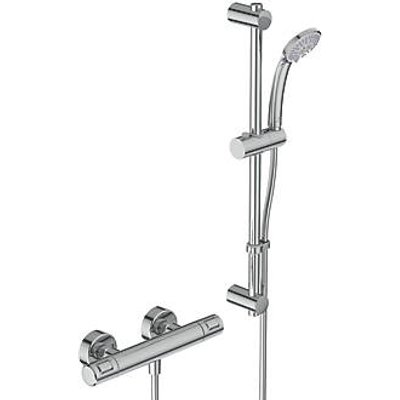 Ideal Standard Ceratherm T25 HP/Combi Flexible Exposed Chrome Thermostatic Shower Mixer (901JY)