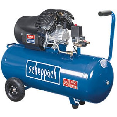 Scheppach HC100DC 100Ltr Electric Twin Cylinder Air Compressor 230V (9048R)