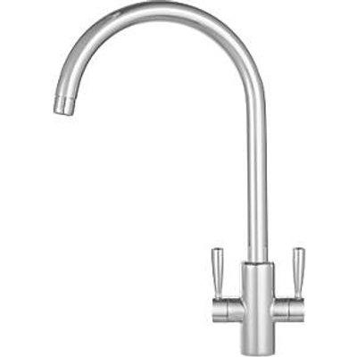 Franke Ascona Sink Mounted Mono Mixer Kitchen Tap Silk Steel (91171)