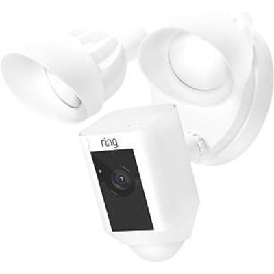 Ring Floodlight White Wired 1080p Outdoor Camera with Floodlight with PIR Sensor (923GX)