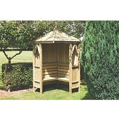 Shire Honeysuckle Corner Arbour Green Wash 1248 x 1248 x 2490mm (9276F)