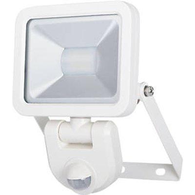 LAP Weyburn Outdoor LED Floodlight With PIR Sensor White 10W 800lm (933FX)