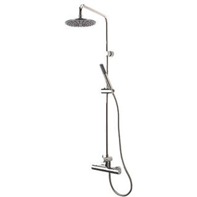 Triton Levano Rear-Fed Exposed Chrome Thermostatic Diverter Mixer Shower (9369F)