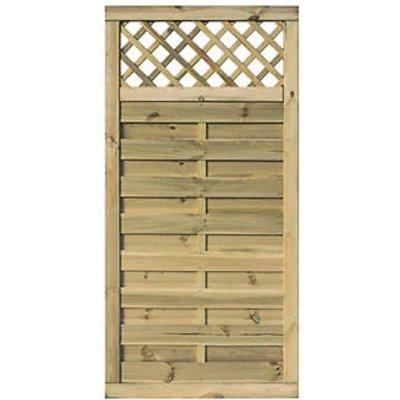 Rowlinson Halkin Double-Slatted Lattice Top Fence Panel / Gate 3 x 6