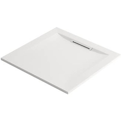 Mira Flight Level Safe Square Shower Tray White 900 x 900 x 25mm (942HR)