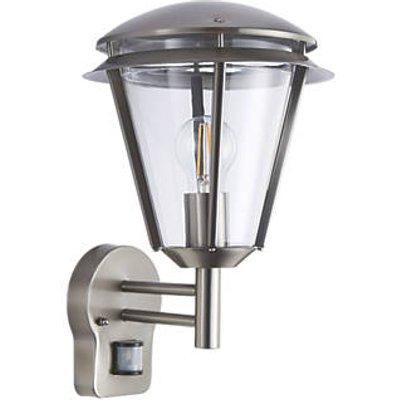 Antler Outdoor Wall Light With PIR Sensor Brushed S/Steel (9466F)