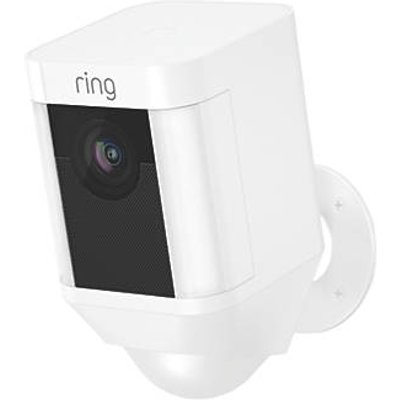 Ring 8SB1S7-WEU0 Battery-Powered White Wireless 1080p Outdoor Camera with Spotlight with PIR Sensor (947GX)