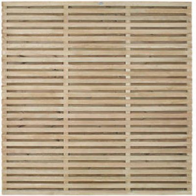 Forest VENHHM6PK5HD Double-Slatted Fence Panel 6 x 6