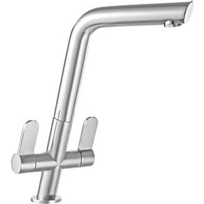 Franke Cresta Dual-Lever Mono Mixer Kitchen Tap Brushed Steel (9794F)