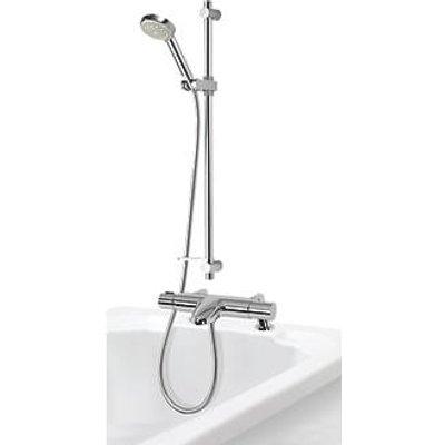 Aqualisa Midas 110 BSM Deck-Fed Exposed Chrome Thermostatic Bath / Shower Mixer (9859X)