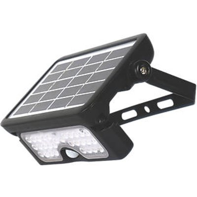 Luceco  Outdoor LED Solar Wall Light With PIR Sensor Black 550lm (991GY)