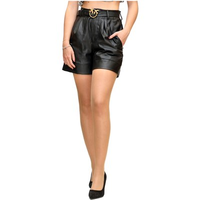 Effect Shorts with Love Buckle Pinko | PINKO SALE