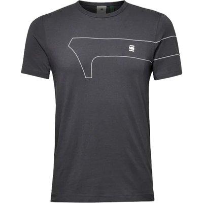 G-star, One GR Slim T-Shirt Grau, Größe: L   G-STAR SALE