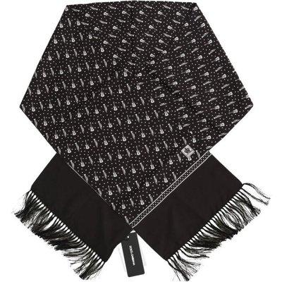 Dolce & Gabbana, Scarf Schwarz, Größe: One size   DOLCE & GABBANA SALE