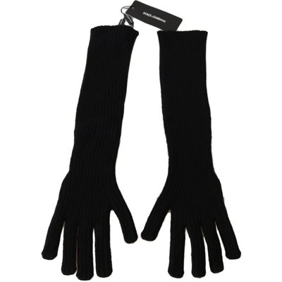 Cashmere Knitted Elbow Length Gloves Dolce & Gabbana | DOLCE & GABBANA SALE