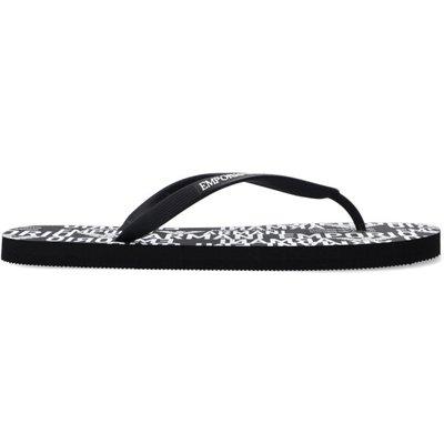 Emporio Armani, Gedruckte Flip-Flops Schwarz, Größe: US 9.5 | EMPORIO ARMANI SALE
