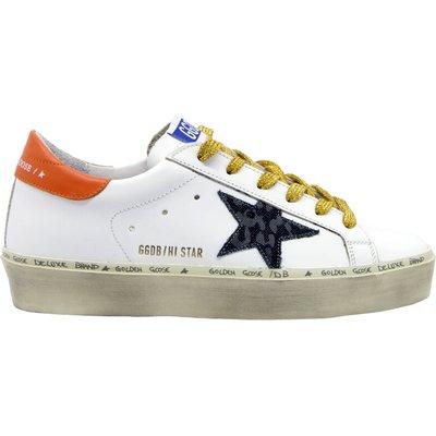 Golden Goose, HI Star Leather Upper AND Heel Leopard Denim Star Weiß, Größe: 40 | GOLDEN GOOSE SALE
