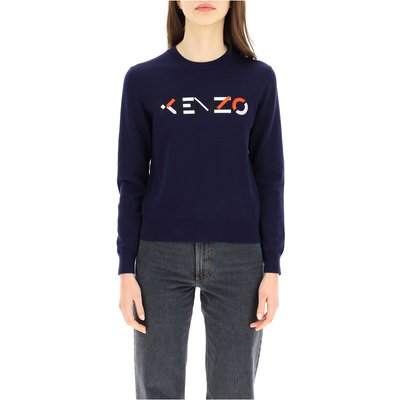 sweater with logo embroidery Kenzo | KENZO SALE