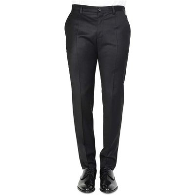 Dolce & Gabbana, Slim Stretch Chinos Schwarz, Größe: 52 IT | DOLCE & GABBANA SALE