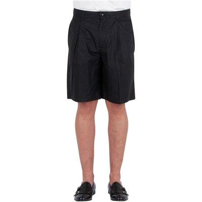 Emporio Armani, Bermuda 1 Pince Shorts Schwarz, Größe: 50 IT | EMPORIO ARMANI SALE