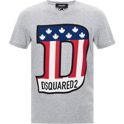 Dsquared2, Logo-bedrucktes T-Shirt Grau, Größe: XL | DSQUARED2 SALE