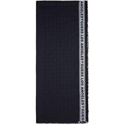 Guess, Überall Jacquard Logo Schal Blau, Größe: One size | GUESS SALE