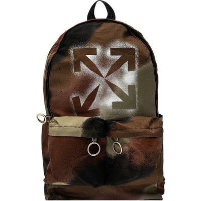 OFF-WHITE Patterned backpack with logo Off White   OFF-WHITE SALE