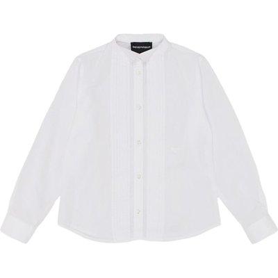 Emporio Armani, Camicia Plissettata Weiß, Größe: 10y | EMPORIO ARMANI SALE