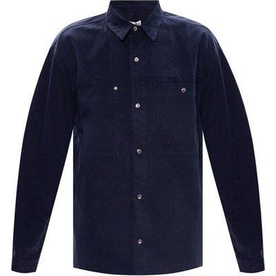 Kenzo, Logo-embroidered shirt Blau, Größe: XL   KENZO SALE