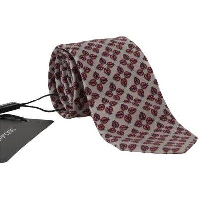 Dolce & Gabbana, Klassische Krawatte mit Marienkäfer-Print Rot, Größe: One size | DOLCE & GABBANA SALE
