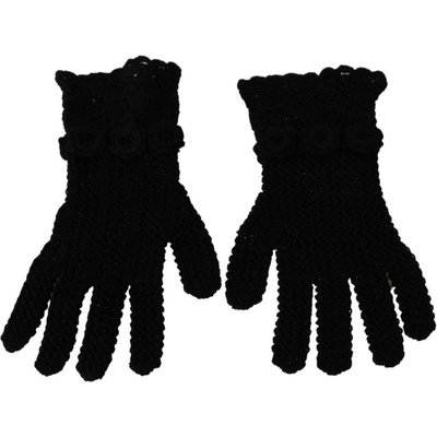 Knitted Mid Arm Length Cotton Gloves Dolce & Gabbana | DOLCE & GABBANA SALE