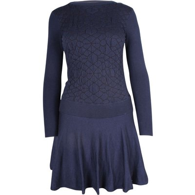 Knit Long Sleeves Flared Dress Dkny Vintage | DKNY SALE