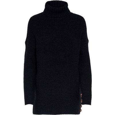 Only, Taliya Sweater Gestrickter Highneck Schwarz, Größe: L | ONLY SALE