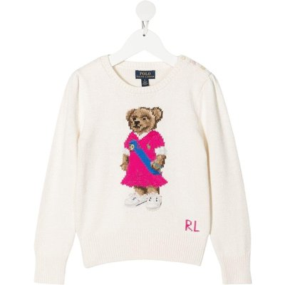 Polo Ralph Lauren, Jersey Sweater with Teddy Bear Beige, Größe: 8y | RALPH LAUREN SALE