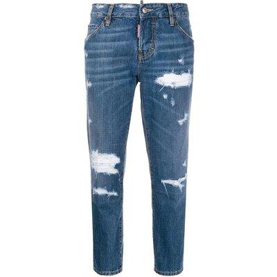 Dsquared2, Beach Cool Girl cropped jeans Blau, Größe: 42 IT   DSQUARED2 SALE