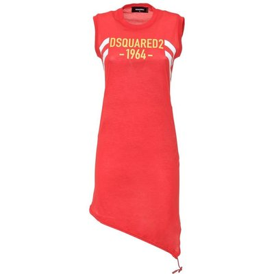 Dsquared2, Dress With Logo Rot, Größe: S - 36 | DSQUARED2 SALE